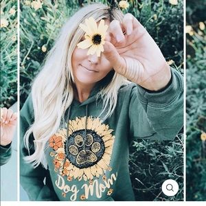 Pawz Saves the Dogs Dog Mom Sunflower Hoodie